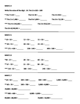 Everyday Math 2012 4th Grade Mental Math Warm Up: Unit 2