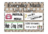 Everyday Math 2nd Grade Lesson 1.8 Number Grids