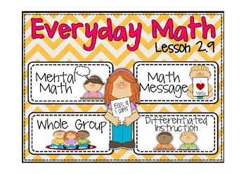 Everyday Math 2nd Grade Lesson 2.9 Name Collections