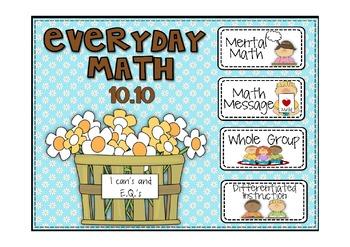 Everyday Math 2nd Grade Promethean Lesson 10.10 Place Valu