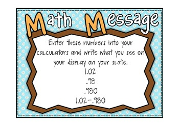 Everyday Math 2nd Grade Promethean Lesson 10.3 Money Amounts with A Calculator