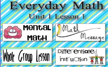 Everyday Math 2nd Grade Promethean Lesson 1.1