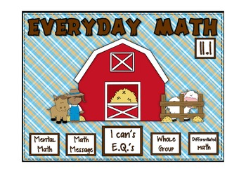 Everyday Math 2nd Grade Promethean Lesson 11.1 Addition Nu