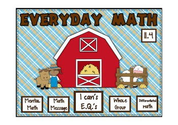 Everyday Math 2nd Grade Promethean Lesson  11.4 Multiplying Equal Goups