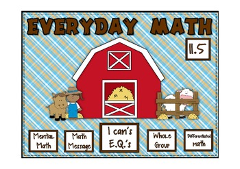 Everyday Math 2nd Grade Promethean Lesson 11.5 Division Number Stories