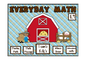 Everyday Math 2nd Grade Promethean Lesson 11.9 Practicing