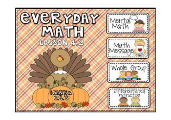 Everyday Math 2nd Grade Promethean Lesson 4.2 Part and Total Number Stories