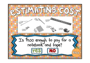 Everyday Math 2nd Grade Promethean Lesson 4.5 Estimating Cost