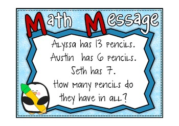 Everyday Math 2nd Grade Promethean Lesson 6.1 Addition of 3 or More Numbers
