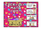 Everyday Math 2nd Grade Promethean Lesson 7.4 Patterns in Doubling and Halving