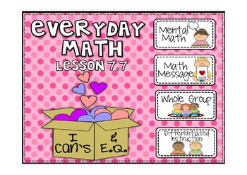 Everyday Math 2nd Grade Promethean Lesson 7.7 Middle Value of a Data Set