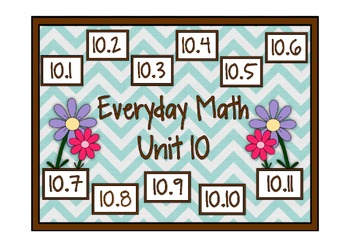 Everyday Math 2nd Grade Promethean Unit 10 Pack