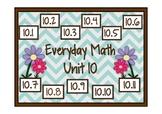 Everyday Math 2nd Grade Promethean Unit 10 Pack