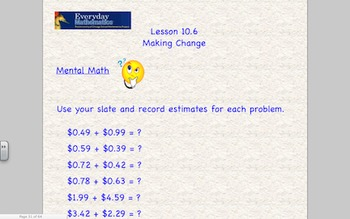 Everyday Math 2nd Grade SmartBoard Lessons Unit 10