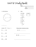 Everyday Math 2nd Grade Study Guide - Unit 6