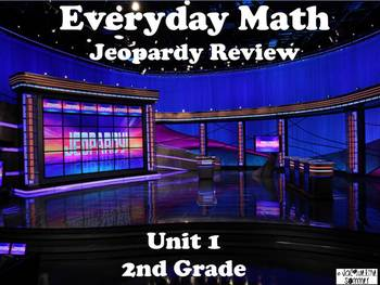 Everyday Math 2nd Grade Unit 1 Jeopardy Review Game