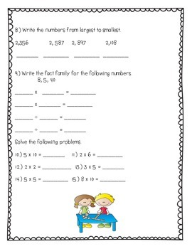 Everyday Math 2nd Grade Unit 12 Review