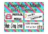 Everyday Math 2nd Grade lesson 1.9 Equivalent Names for Numbers