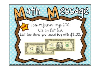 Everyday Math 2nd Grd Promethean Lesson 10.2 Decimal Notations for Pennies/Dimes