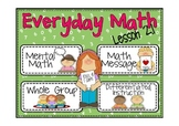 Everyday Math 2nd grade Lesson 2.1 Addition Number Stories