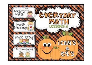 Everyday Math 2nd grade Lesson 3.4 Exploring Numbers, Time, and Geoboards