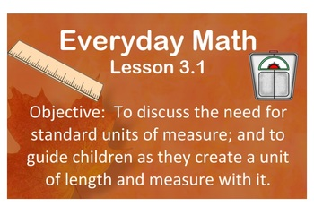 2007 EDITION. Everyday Math 3-1 (Grade 3)