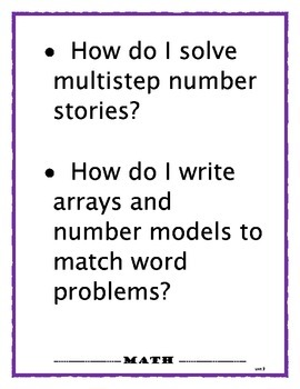 Everyday Math 3rd Grade Essential Questions EM4