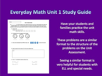 Everyday Math 3rd Grade Unit 1 Study Guide