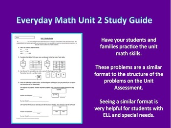Everyday Math 3rd Grade Unit 2 Study Guide