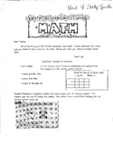 Everyday Math 3rd Grade Unit 4 Review Multiplication and Division