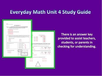 Everyday Math 3rd Grade Unit 4 Study Guide