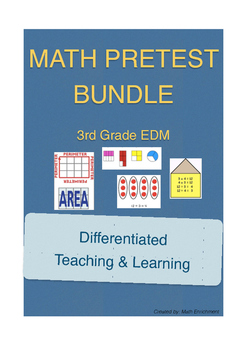Everyday Math 3rd Grade Unit Pretest Bundle