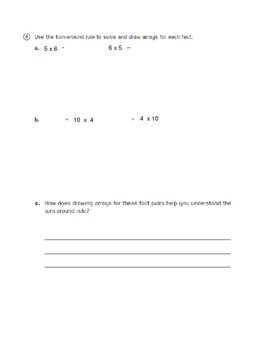 Everyday Math 4 - 3rd Grade Unit 3 Review with Answer Key