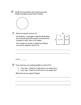 Everyday Math 4 - 3rd Grade Unit 5 Review