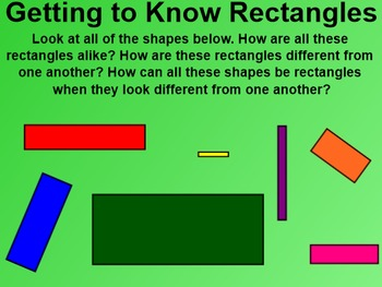 Everyday Math 4 Common Core Edition Kindergarten 2.11 Getting to Know Rectangles
