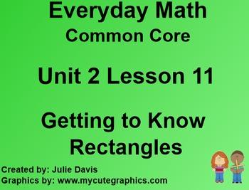 Everyday Math 4 Common Core Edition Kindergarten 2.11 Gett
