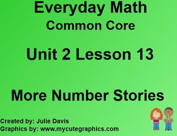 Everyday Math 4 Common Core Edition Kindergarten 2.13 More