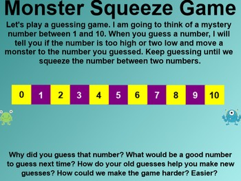 Everyday Math 4 Common Core Edition Kindergarten 3.12 Monster Squeeze