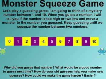 Everyday Math 4 Common Core Edition Kindergarten 3.12 Monster Squeeze