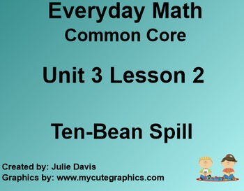 Everyday Math 4 Common Core Edition Kindergarten 3.2 Ten Bean Spill