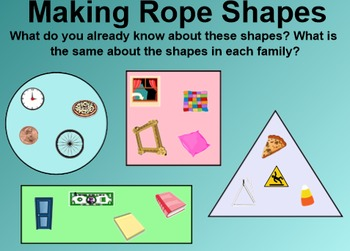 Everyday Math 4 Common Core Edition Kindergarten 3.3 Rope Shapes