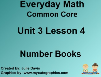 Everyday Math 4 Common Core Edition Kindergarten 3.4 Number Books