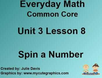 Everyday Math 4 Common Core Edition Kindergarten 3.8 Spin