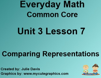 Everyday Math 4 Common Core Edition Kindergarten 3.7 Comparing Representations
