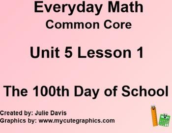 Everyday Math 4 Common Core Edition Kindergarten 5.1 The 1