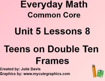 Everyday Math 4 Common Core Edition Kindergarten 5.8 Teens on Double Ten Frame