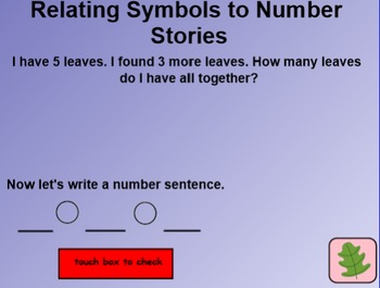 Everyday Math 4 Common Core Edition Kindergarten 6.13 Number Stories Symbols