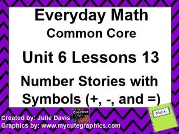 Everyday Math 4 Common Core Edition Kindergarten 6.13 Numb