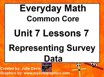 Everyday Math 4 Common Core Edition Kindergarten 7.7 Repre