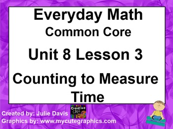 Everyday Math 4 Common Core Edition Kindergarten 8.3 Count